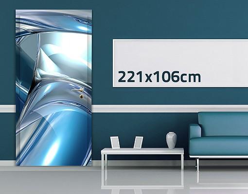 Produktfoto 3D Türtapete selbstklebend - Cold Steel