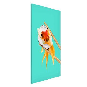 Produktfoto Magnettafel - Jonas Loose - Sushi mit Goldfisch - Memoboard Hochformat 4:3