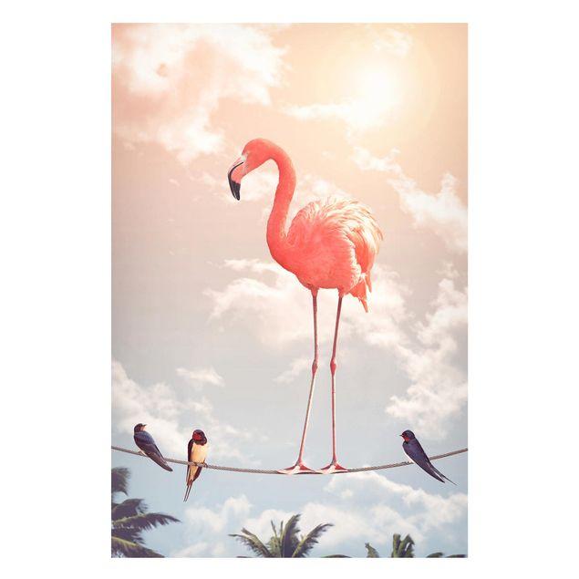 Produktfoto Magnettafel - Jonas Loose - Himmel mit Flamingo - Memoboard Hochformat 3:2