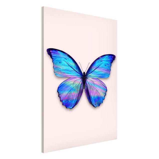 Produktfoto Magnettafel - Jonas Loose - Holografischer Schmetterling - Memoboard Hochformat 3:2