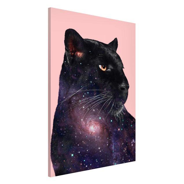 Produktfoto Magnettafel - Jonas Loose - Panther mit Galaxie - Memoboard Hochformat 3:2