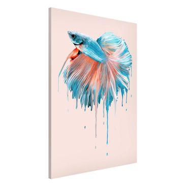 Produktfoto Magnettafel - Jonas Loose - Schmelzender Fisch - Memoboard Hochformat 3:2