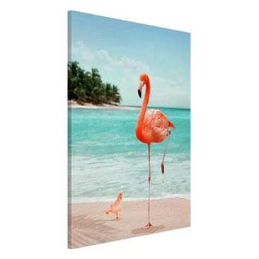 Product picture Magnetic Board - Beach With Flamingo -...