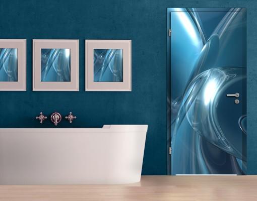 Produktfoto 3D Türtapete selbstklebend - Underwater Universe