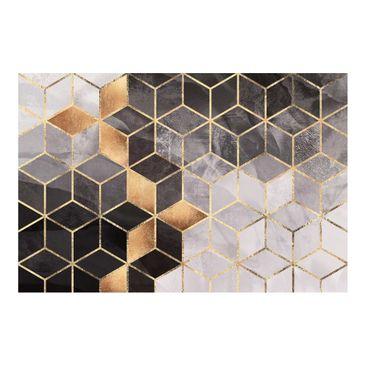 Immagine del prodotto Carta da parati - Geometria dorata in bianco e nero