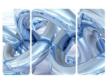 Product picture Wall Mural Frosty Chains Triptych II