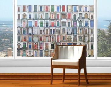 Produktfoto Fensterfolie - Sichtschutz Fenster 100 Türen - Fensterbilder