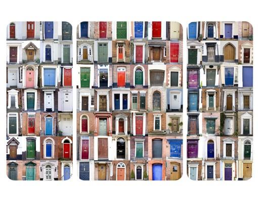 Produktfoto Selbstklebendes Wandbild 100 Türen Triptychon II