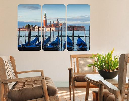 wall mural san giorgio in venice triptych i. Black Bedroom Furniture Sets. Home Design Ideas