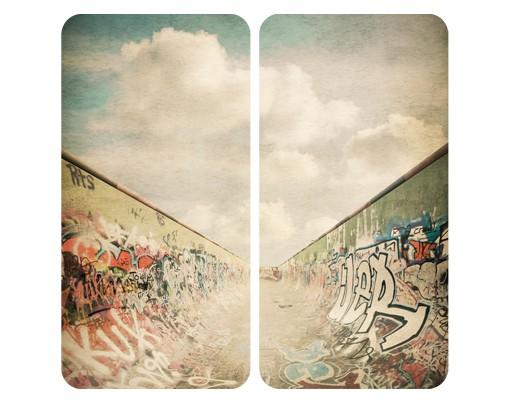 Produktfoto Selbstklebendes Wandbild Graffiti-Skatepark Duo