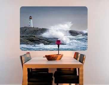 Produktfoto Wall Mural Storm Waves At The Lighthouse