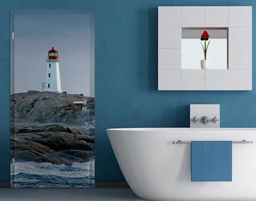 Product picture Door Wall Mural Storm Waves At The...