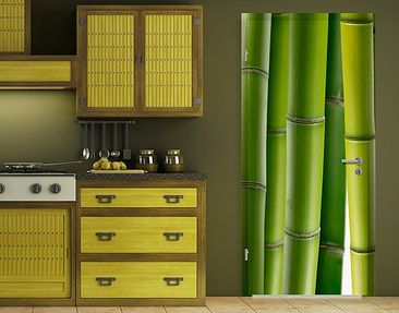 Immagine del prodotto Carta da parati adesiva per porte - Bamboo Plants