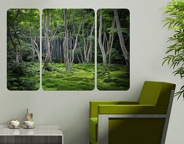 Product picture Wall Mural Japanese Forest Triptych II