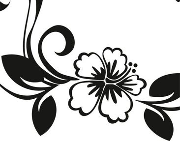 Product picture Wall Decal no.CA10 Dream of Hibiscus