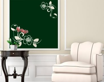 Product picture Wall Decal no.CA10 Dream Of Hibiscus II