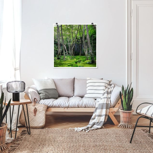 Produktfoto Poster - Growing Trees - Quadrat 1:1