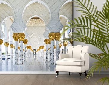 Product picture Photo Wall Mural Mosque In Abu Dhabi