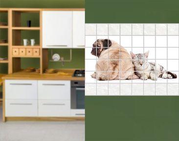 Produktfoto Tile Mural Carlins and kittens