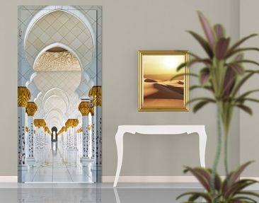 Product picture Door Wall Mural Mosque In Abu Dhabi