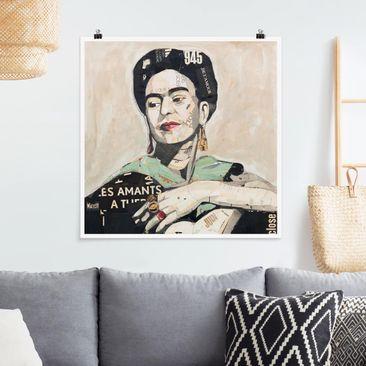 Produktfoto Poster - Frida Kahlo - Collage No.4 - Quadrat 1-1 vergrößerte Ansicht in Wohnambiente Artikelnummer 259800-XWA