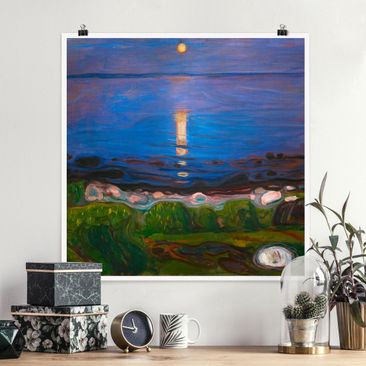 Immagine del prodotto Poster - Edvard Munch - Summer Night On The Sea Beach - Quadrato 1:1