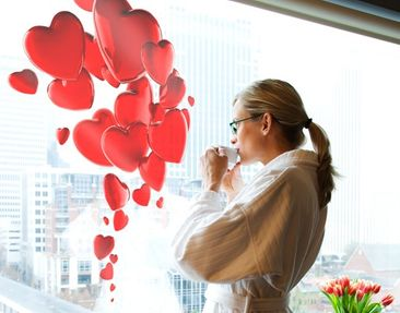 Product picture Window Sticker no.425 Heart Balloons
