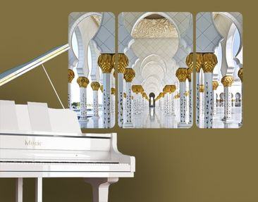 Product picture Wall Mural Mosque In Abu Dhabi Triptych...