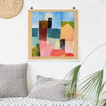 Produktfoto Poster - Paul Klee - Mondaufgang - Quadrat 1:1