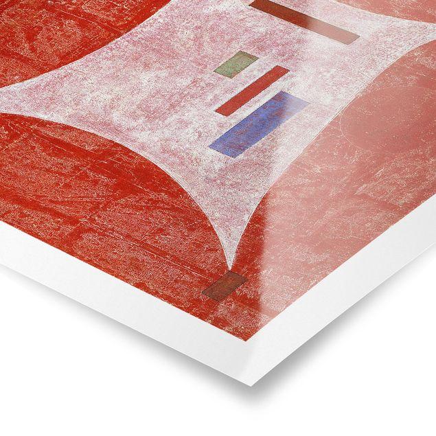 Produktfoto Poster - Wassily Kandinsky - Vier Ecken - Quadrat 1:1