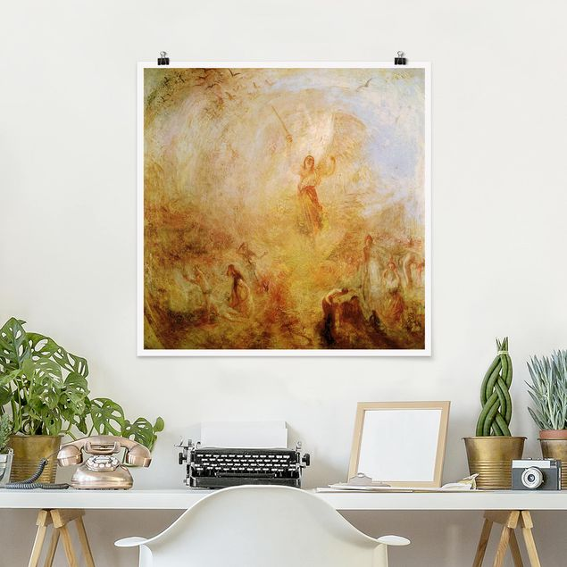 Produktfoto Poster - William Turner - Engel vor Sonne - Quadrat 1:1