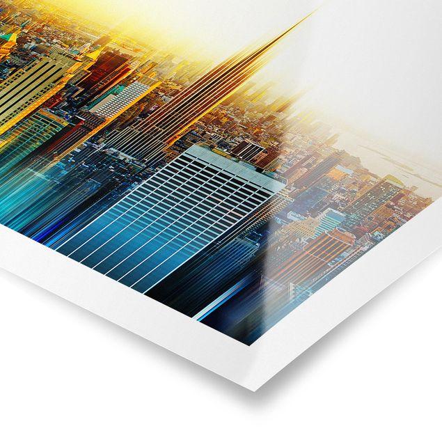 Produktfoto Poster - Manhattan Abstrakt - Quadrat 1:1