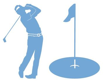 Product picture Wall Decal Hook no.AC56 Golfer