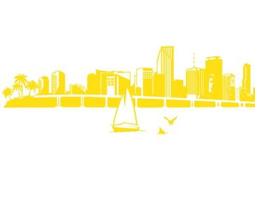 Product picture Wall Decal no.FB71 Miami Beach Skyline...