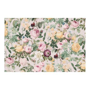Produktfoto Fototapete - Vintage Blumen Illustration XXL - Fototapete Breit