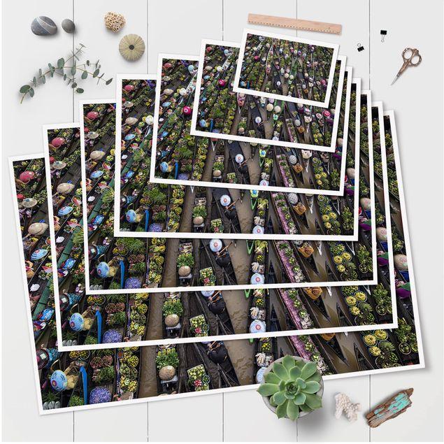 Produktfoto Poster - Schwimmender Markt - Querformat 2:3
