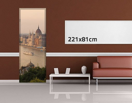 Produktfoto TürTapete Budapest Skyline