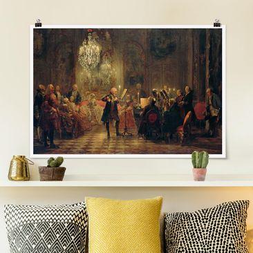 Immagine del prodotto Poster - Adolph von Menzel - Flauto Concerto - Orizzontale 2:3