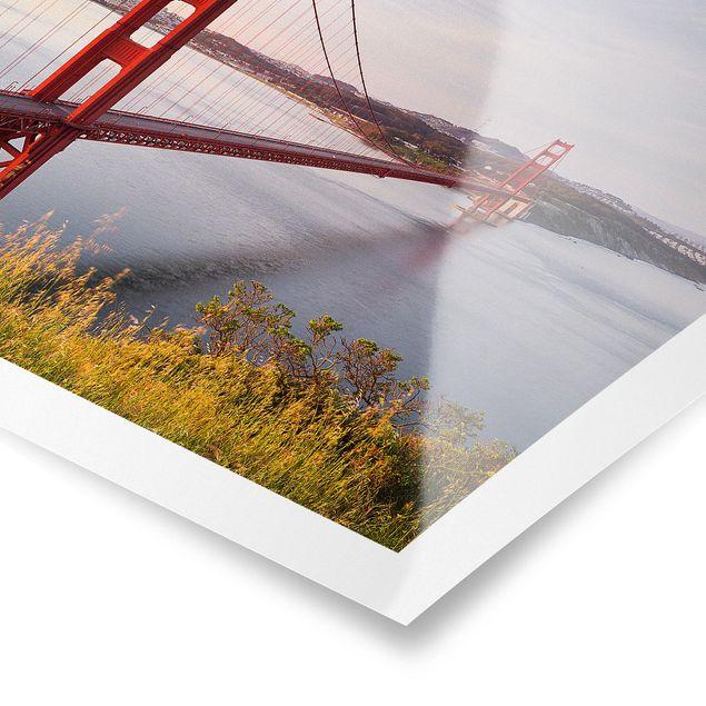 Produktfoto Poster - Golden Gate Bridge in San Francisco - Querformat 2:3