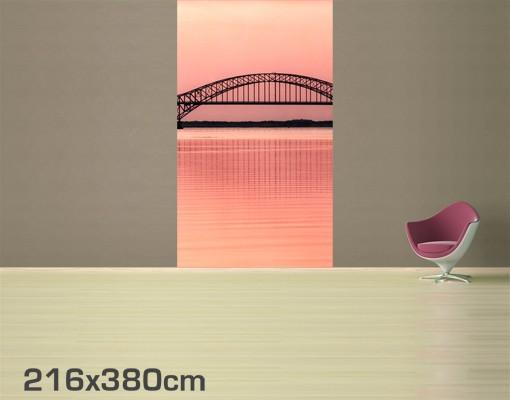 selbstklebende tapete fototapete the fire island inlet bridge. Black Bedroom Furniture Sets. Home Design Ideas