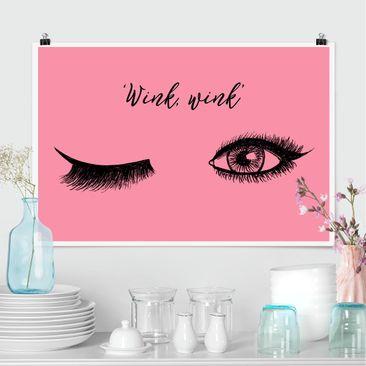 Produktfoto Poster - Wimpern Chat - Wink - Querformat 2:3