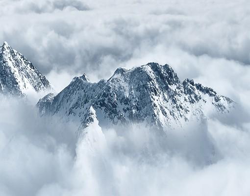 fototapete berge selbstklebend die alpen ber den wolken. Black Bedroom Furniture Sets. Home Design Ideas