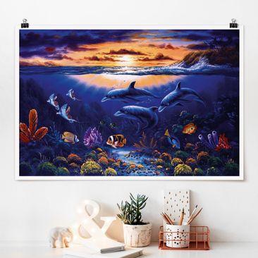 Immagine del prodotto Poster - Dolphins mondo - Orizzontale 2:3