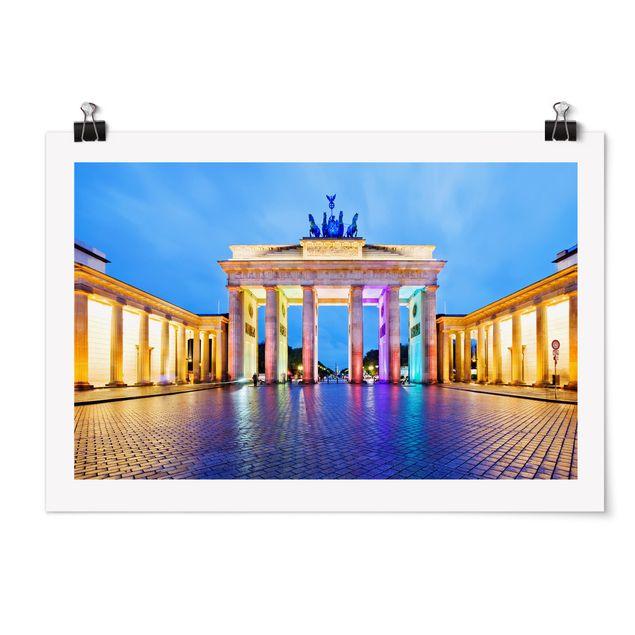 Produktfoto Poster - Erleuchtetes Brandenburger Tor - Querformat 2:3