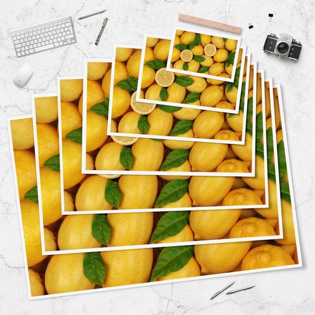 Produktfoto Poster - Saftige Zitronen - Querformat 2:3