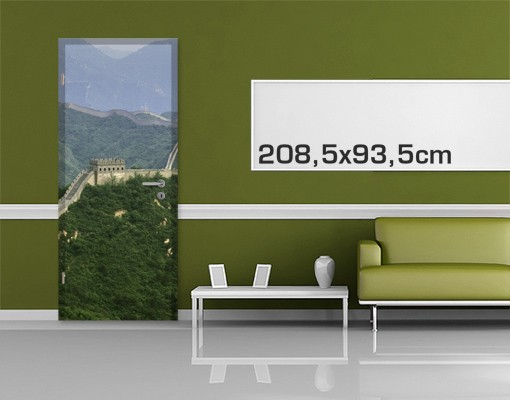 Produktfoto TürTapete Die chinesische Mauer im Grünen