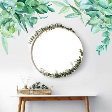 Immagine del prodotto Adesivo murale - Decorazione eucalipto in acquerello XXL