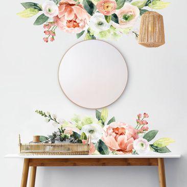 Immagine del prodotto Adesivo murale - Fiori e rose in acquerello XXL