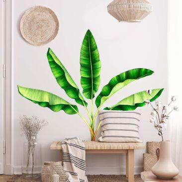 Immagine del prodotto Adesivo murale - Foglie di banano in acquerello XXL