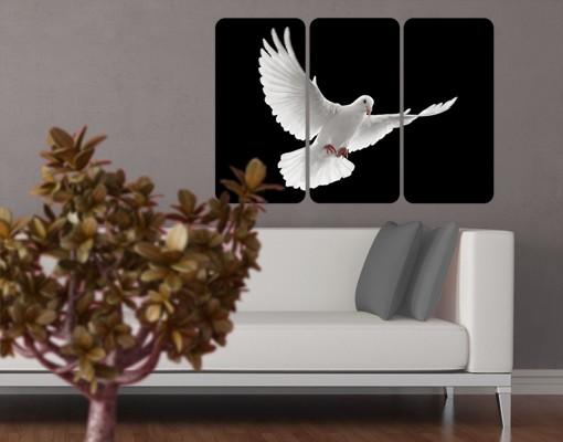 Produktfoto Selbstklebendes Wandbild Friedenstaube Triptychon I